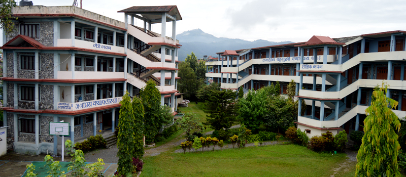 Our Beautiful College which is located in Pokhara valley.